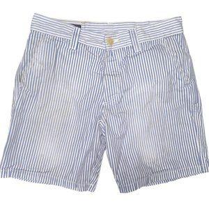 Vilebrequin Seersucker Mens Shorts 31 Blue Stripe